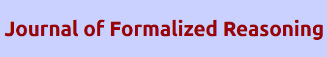 Journal of Formalized Reasoning